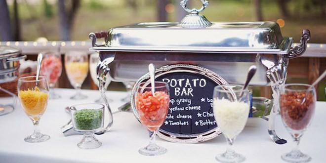 Potato bar DIY food station