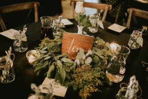Rustic wedding table