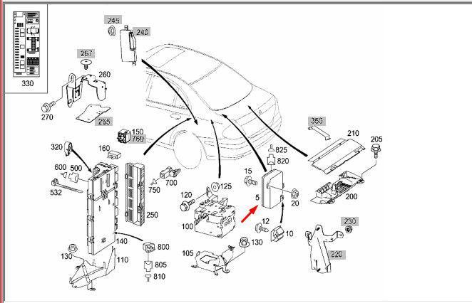 Блок управления аккумулятора MERCEDES E-CLASS 2005 W211
