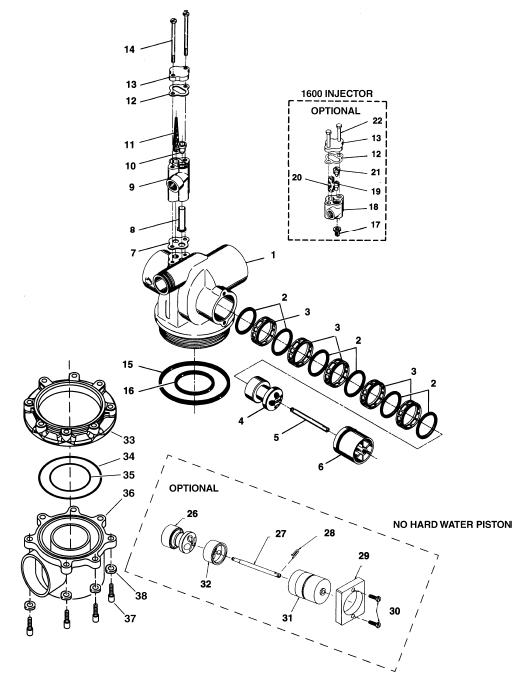 Fleck 2850 Valve Spares from Industrial Water Equipment Ltd