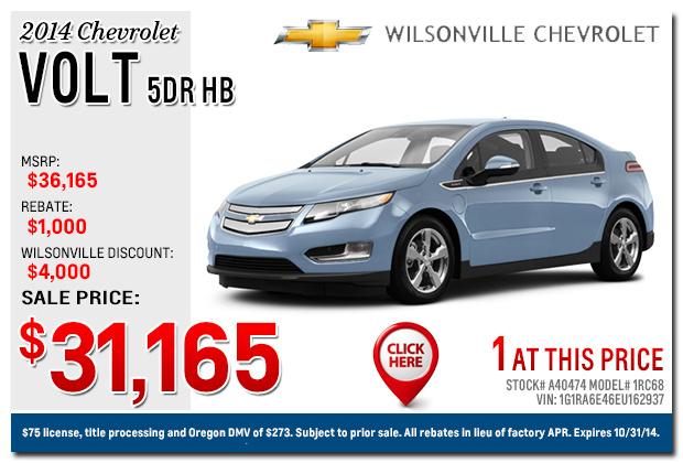New 2015 Chevy Car Specials  Portland & Salem, Or New Suv