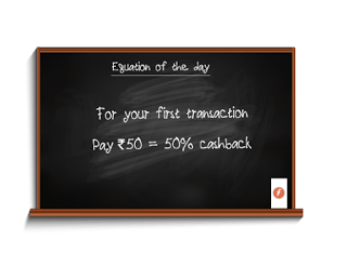 50% Cashback on Recharge & Bill Payment of Rs.50 or More (New Users