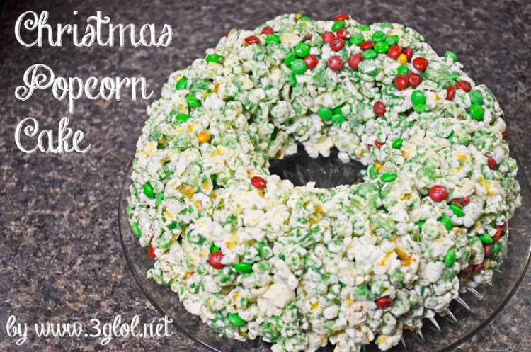 Christmas Popcorn Cake