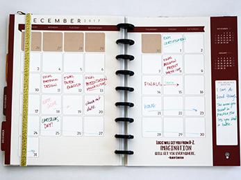 3G Flux Planner December Monthly Spread