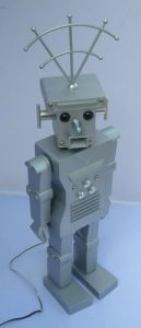 grandpas robot art retro designer remote controlled