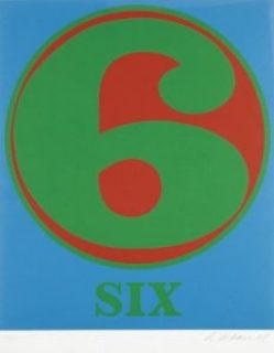 robert indiana creely numbers serigraphs six 6