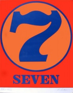 robert indiana creely numbers serigraphs seven 7