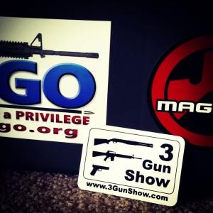 3-Gun Show Sticker