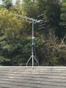 かつての主流だった八木アンテナ。