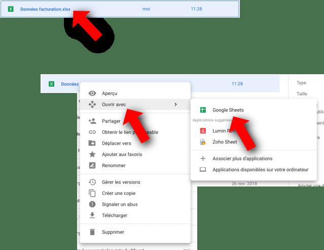 Comment importer un fichier Excel dans Google Sheets