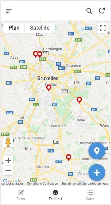 géolocalisation dans AppSheet