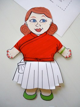 Esme Jointed Paper Doll with Pavlova Paper Clothes