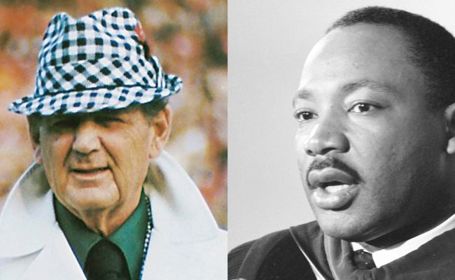 Taking Note What Did Paul Bear Bryant Have In Common With Dr Martin L King Jr