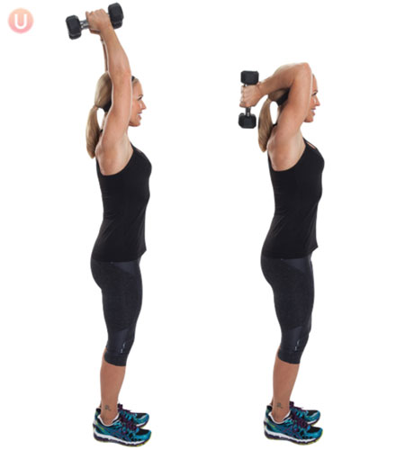 How To Do Tricep Overhead Extensions - Get Healthy U