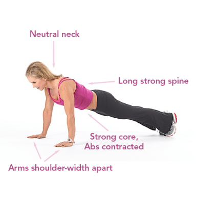 A fitness trainer doing Push-ups