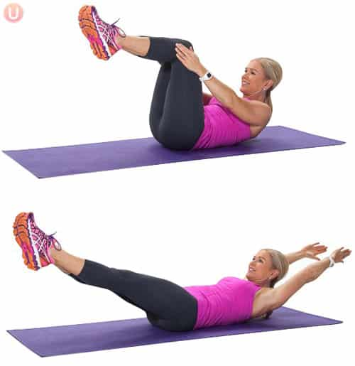 Image result for lying on back pilates poses