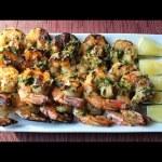 Grilled Garlic & Herb Shrimp – How to Make Grilled Garlic Herb Shrimp Skewers