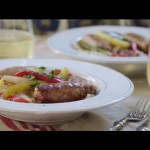 Sausage Recipes – How to Make Sausage, Peppers, Onions and Potato Bake