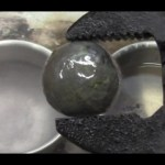 Super Cooled Nickel Ball in Gasoline