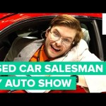 Used Car Salesman at the New York Auto Show