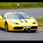 Ferrari's 597bhp 458 Speciale driven to the limit on track