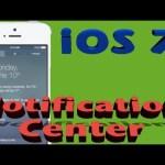 iOS 7 Notification Center REVIEW DEMO Walkthrough | Interactive video !