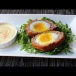 Scotch Eggs –  Crispy Sausage-Wrapped Soft Cooked Egg – How to Make Scotch Eggs