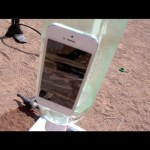 iPhone 5 Launched To The Sky! 200 Foot Rocket Test!