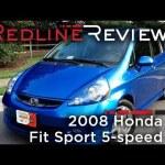2008 Honda Fit Sport 5-speed Review, Walkaround, Exhaust, & Test Drive