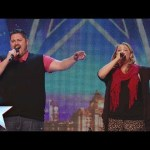 Kieran and Sarah sing Love Changes Everything Britain's Got Talent 2014