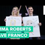 Emma Roberts and Dave Franco Draw Each Other
