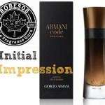 Initial Impression: Armani Code Profumo by Armani (2016)