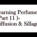 Learnign Perfumery ( Part 11 ) – Diffusion & Sillage