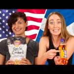 American & Scottish People Swap Snacks