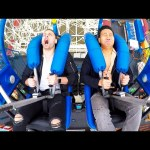 Try Not To Scream Challenge: Slingshot Amusement Park Ride