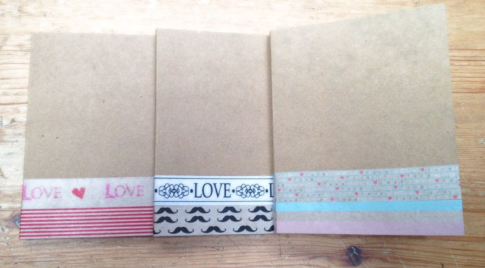 mini libretas decoradas con washitape