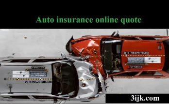 Auto insurance online quote