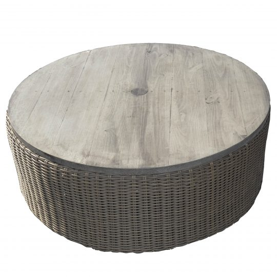 42 round woven ottoman coffee table