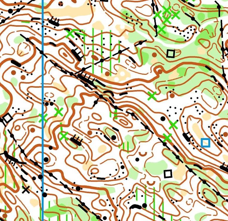Extrait de la carte de l'étape 1 des trois jours du Haut-Jura 2020