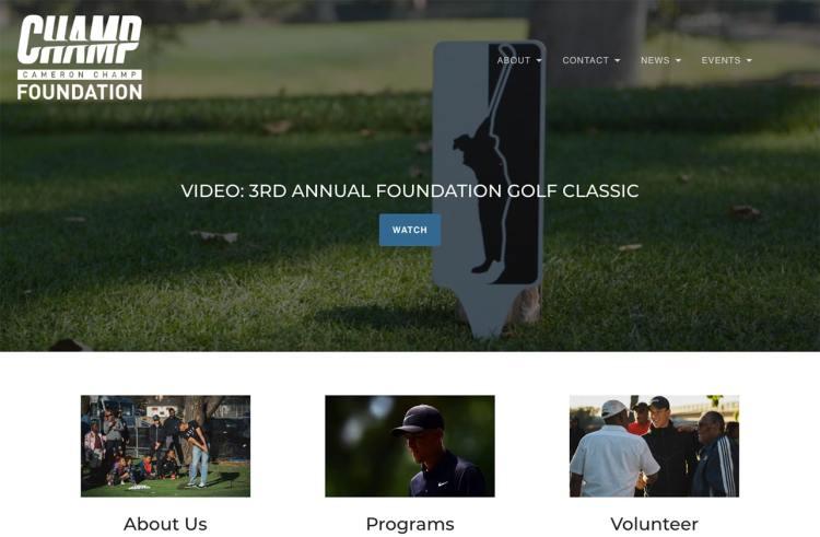 Cameron Champ Foundation screenshot