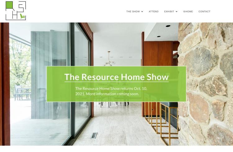 The Resource Home Show website screenshot