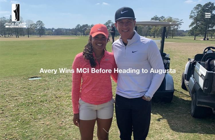 Amari Avery and Cameron Champ at Mack Champ Invitational