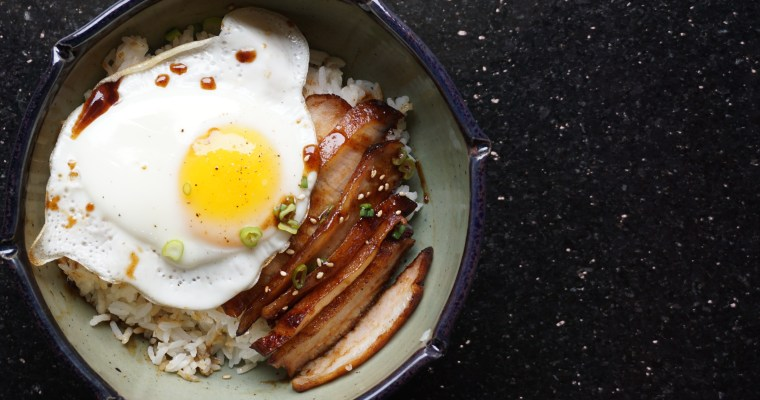 Anatomy of a Breakfast Bowl (Char Siu & Egg Over Rice)