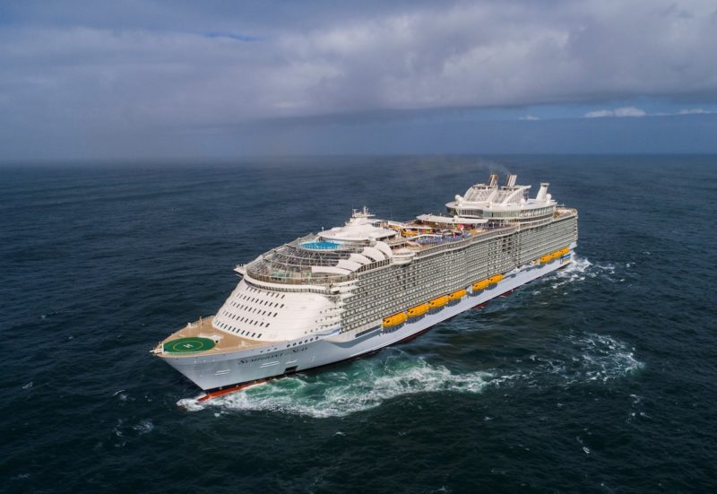 Symphony of the seas sea trial