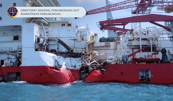 Cable Layer Star Centurion TBoned by Tanker Off Singapore