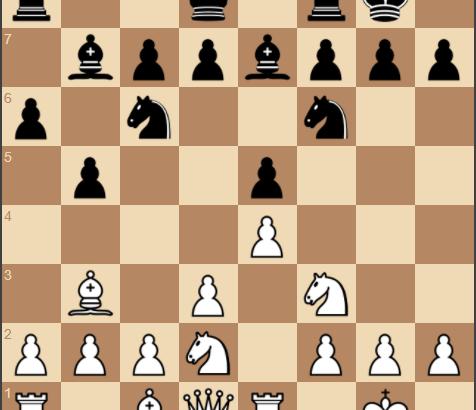 1.e4 e5 2.Nf3 Nc6 3.Bb5 a6 4.Ba4 Nf6 5.O-O b5 6.Bb3 Bb7 7.d3 Be7 8.Re1 O-O 9.Nbd2