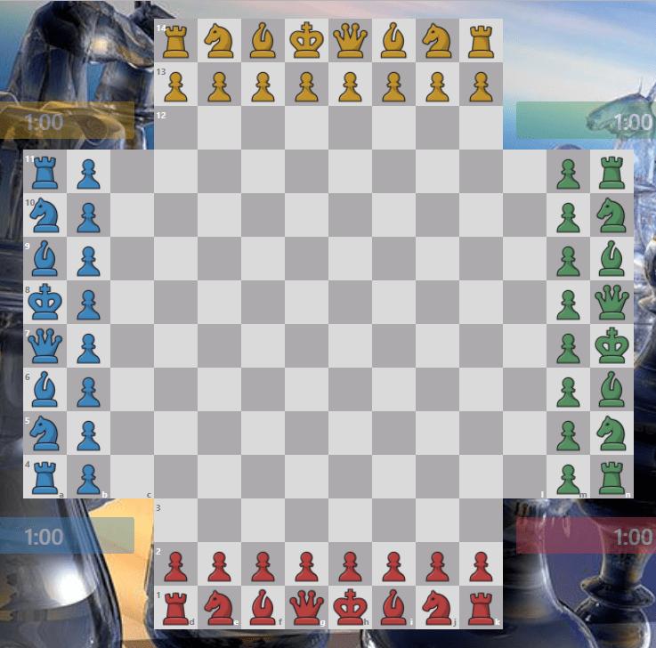 Шахматы для 4-х игроков