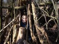 In the den