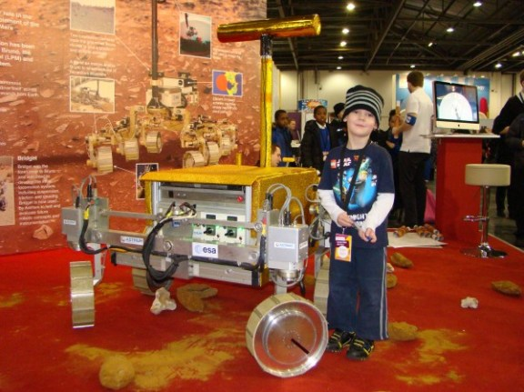 Thomas with a Mars Rover
