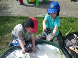 Cornflour and Water play